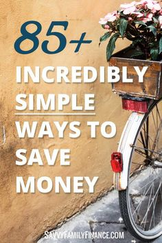 Saving money doesn't have to be complicated or difficult! Here are a variety of ways to save that are incredibly easy!