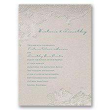 Flourishing Flowers Wedding Invitation