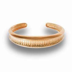 Hissia gold plated sterling silver Oni bangle