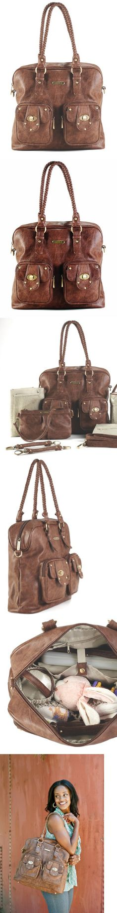 timi & leslie Rachel Diaper Bag, Caramel, The Rachel Bag is as scrumptious as a cupcake. It's made from easy to clean faux leather (PVC free) and features our custom hardware in an antique brass finish. Rachel comes with many functional and f..., #Baby, #Diaper Bags,
