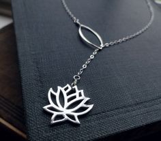 Lotus necklace - wish it was gold