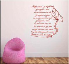 adesivi murali frase madre teresa