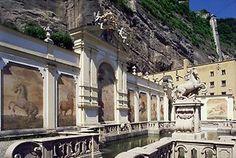Pferdeschwemme in Salzburg Salzburg, Louvre, Mansions, House Styles, Building, Travel, Gone With The Wind, Historical Pictures, Graz