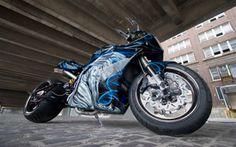 Altered Chrome L Custom Sportbike   BallerRide.Com