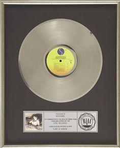 Madonna Like a Virgin RIAA Platinum Album Award