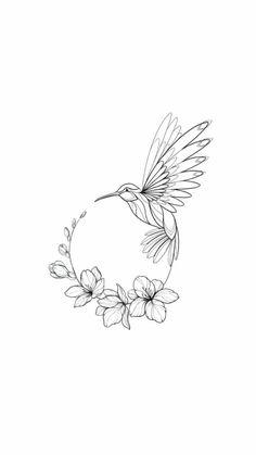 Hummingbird circular design – # tattoo … - Top Of The World Bird Drawings, Pencil Art Drawings, Art Drawings Sketches, Flower Tattoo Drawings, Cute Tattoos, Body Art Tattoos, Small Tattoos, Fox Tattoos, Small Flower Tattoos