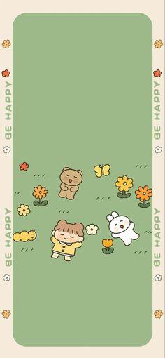 Iphone Wallpaper Glitter, Mood Wallpaper, Kawaii Wallpaper, Cute Cartoon Wallpapers, Live Wallpapers, Korean Art, Cute Backgrounds, Minimalist Poster, Cute Illustration