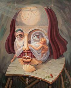 WILLIAM SHAKESPEARE: Un retrato de Shakespeare, de Oleg Shuplyak.
