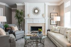 The Perfect Family Friendly Living Room Design. COLOR SPOTLIGHT U2013 Benjamin  Moore Silver Fox | ROWE SPURLING PAINT COMPANY