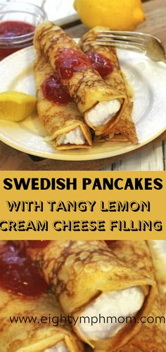 This Swedish Pancakes with Lemon filling recipe is part of the Splenda 365 Sweet swaps. Swedish Pancakes, Pancakes Easy, Fluffy Pancakes, Breakfast Pancakes, Pancakes And Waffles, Breakfast Recipes, Dessert Recipes, Types Of Pancakes, Low Carb Crepe
