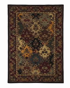 9'x13' Rectangular Multi Multicolor  Splendor  Traditional Panel Rug | Free Shipping! |  Dynamic  No. 2002