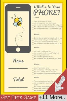 bumble bee baby shower ideas | baby shower game