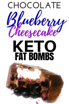 Keto Fat Bombs with Cream Cheese Chocolate and Blueberry