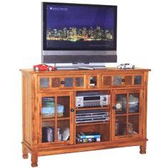 Sunny Designs 2799RO Sedona TV iPod Console in Rustic Oak