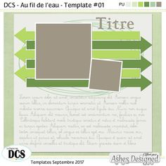 Templates - Septembre 2017 #digiscrapbooking #freebies #DCS #template
