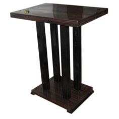 Makassar Side Table in the Deco Style | From a unique collection of antique and modern side tables at http://www.1stdibs.com/furniture/tables/side-tables/