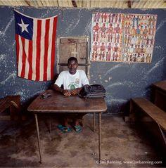 Liberian Flag on Wall 2