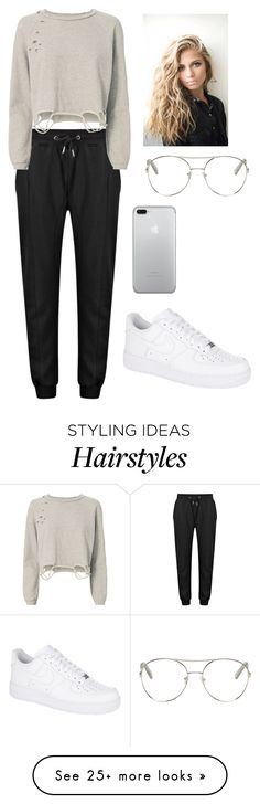 """Untitled #570"" by tessajeane on Polyvore featuring NSF, NIKE and Chloé"