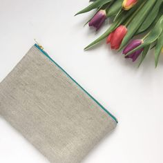Ecofriendly British woven hemp pouch lined with Cloud 9s Little Forest Citron 100% organic cotton fabric. Great for using as a handbag organiser or on its own as a clutch.  • British woven hemp/organic cotton outer fabric  • Cloud 9s Little Forest Citron