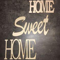 HOME+SWEET+HOME+NA+ZEĎ+Dekorace+na+zeď+vč.pásky+pro+uchycení.+Rozměry+cca+15+x+30cm+v+největším+nápisu.