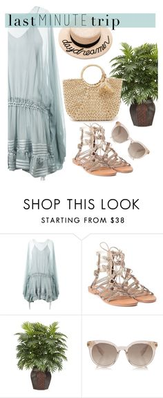 """""""Take me to greece"""" by karla786 ❤ liked on Polyvore featuring Chloé, Steve Madden, Nearly Natural, Eugenia Kim and Hat Attack"""
