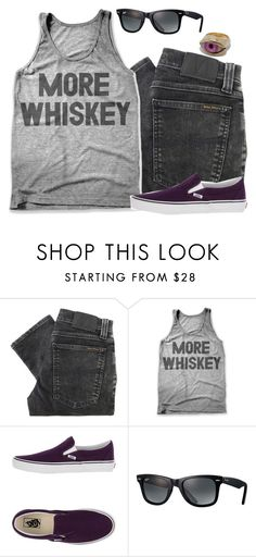 """""""Untitled #1675"""" by yorkington ❤ liked on Polyvore featuring Nudie Jeans Co., Vans and Ray-Ban"""