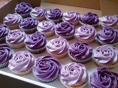 purple flower cupcakes - Google Search
