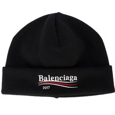 Balenciaga 2017 beanie hat ($250) ❤ liked on Polyvore featuring men's fashion, men's accessories, men's hats, black, men's brimmed hats and mens beanie hats