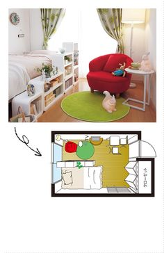 Small studio apartment. Japan.
