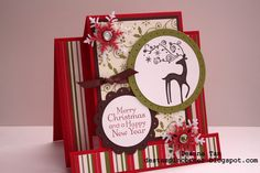 Stampin Up Dasher Center Step Card Christmas Cards To Make, Xmas Cards, Holiday Cards, Winter Cards, Reindeer Christmas, Cards Diy, Christmas 2015, Christmas Stuff, Handmade Christmas