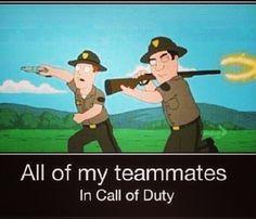 Call of duty curse the retarded teammates xD