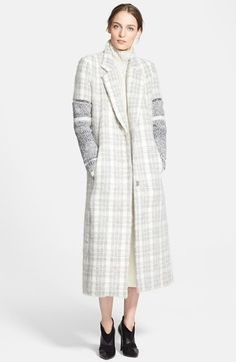 Yigal Azrouël Plaid Coat with Removable Knit Sleeves CAD 2506.45