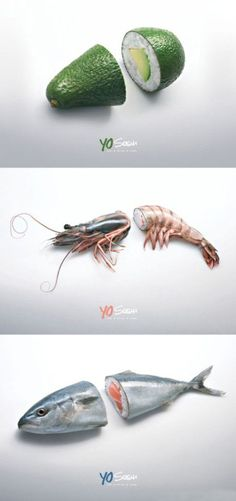 Creative sushi ad. Makes me kind of hungry right now.