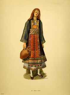 Kavakli Thrace Greek Traditional Dress, African Traditional Dresses, Renaissance Dresses, Medieval Clothing, Ethnic Fashion, Punk Fashion, Lolita Fashion, Shalwar Kameez Pakistani, Pakistani Suits