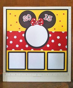 Minnie Mouse Premade Scrapbook Page on Etsy, $9.00