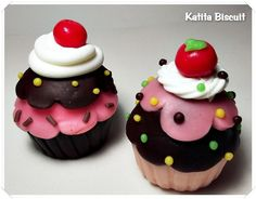 cupcakes de Biscuit para lembrancinhas