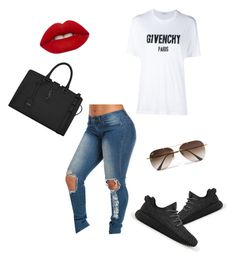 """""""Untitled #37"""" by tay-liangg on Polyvore featuring adidas, Givenchy, Yves Saint Laurent, Lime Crime, Ray-Ban, women's clothing, women, female, woman and misses"""