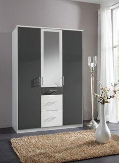 Simple Kleiderschrank Click Wei Anthrazit Buy now at