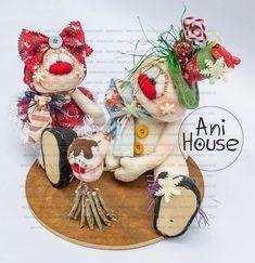 Christmas Themes, Christmas Crafts, Xmas, Christmas Fabric, Fabric Decor, Fun Crafts, Gingerbread, Snowman, Teddy Bear