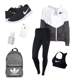 """""""#14"""" by lily141 on Polyvore featuring NIKE, adidas and Essie"""