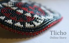 Beaded Hairpin 007.  Available at http://tlicho.ca/ $40.