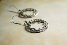 Spanish Gypsy Scalloped Hoop Earrings by TesoroDelSol on Etsy, $20.00