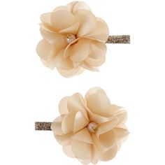 Accessorize 2 x Beaded Glitter Clip Flowers (13 CAD) ❤ liked on Polyvore