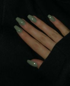 Simple Acrylic Nails, Best Acrylic Nails, Acrylic Nails Green, Acrylic Nail Designs, Aycrlic Nails, Swag Nails, Coffin Nails, Glitter Nails, Milky Nails