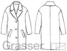 Пальто oversize, выкройка №142 купить on-line