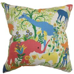 Caprivi Flora and Fauna Down Filled Throw Pillow Multi - Overstock™ Shopping - Great Deals on PILLOW COLLECTION INC Throw Pillows