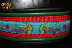 dogsart TWICE DRAGONS Martingale Leather Collar  by dogsartcollars, $38.00