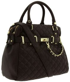 Quilted black tote