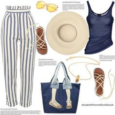 SUMMER VIBES by elizabethhorrell on Polyvore featuring Just Cavalli, Topshop and Harry Rocks
