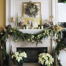 christmas fireplace decor - Google Search